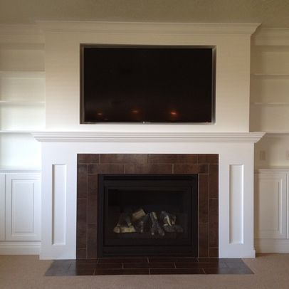 Salt Lake City Home Tv Above Fireplace Design Pictures