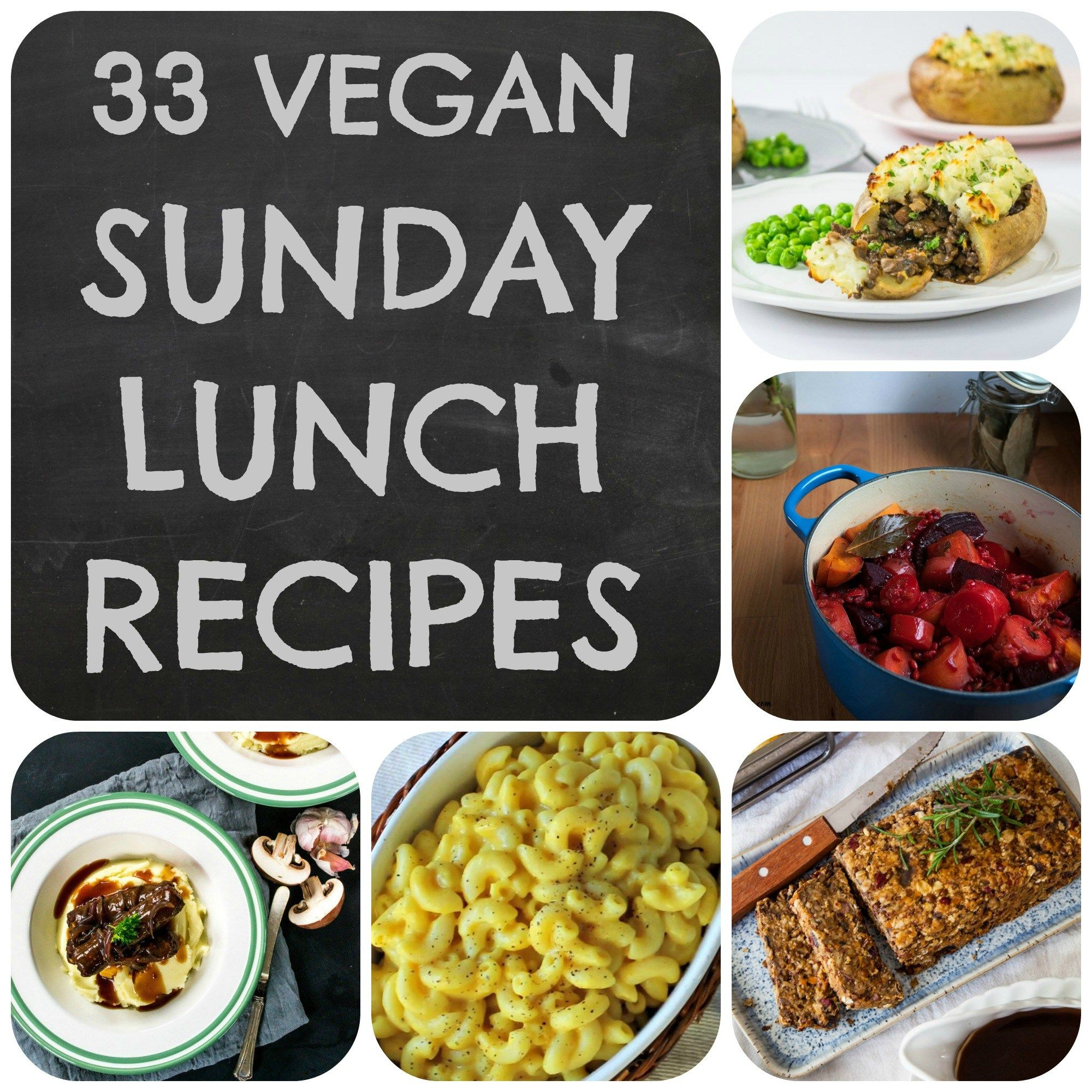 Vegan Sunday Lunch Ideas Lunch Recipes Vegan Sunday Lunch