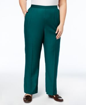 ff10256a9e Alfred Dunner Plus Size Emerald Isle Collection Straight-Leg Pants - Green  20WS