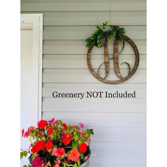 Wooden Door Hangers for Fall, Wooden Circle Monogram, Initia…