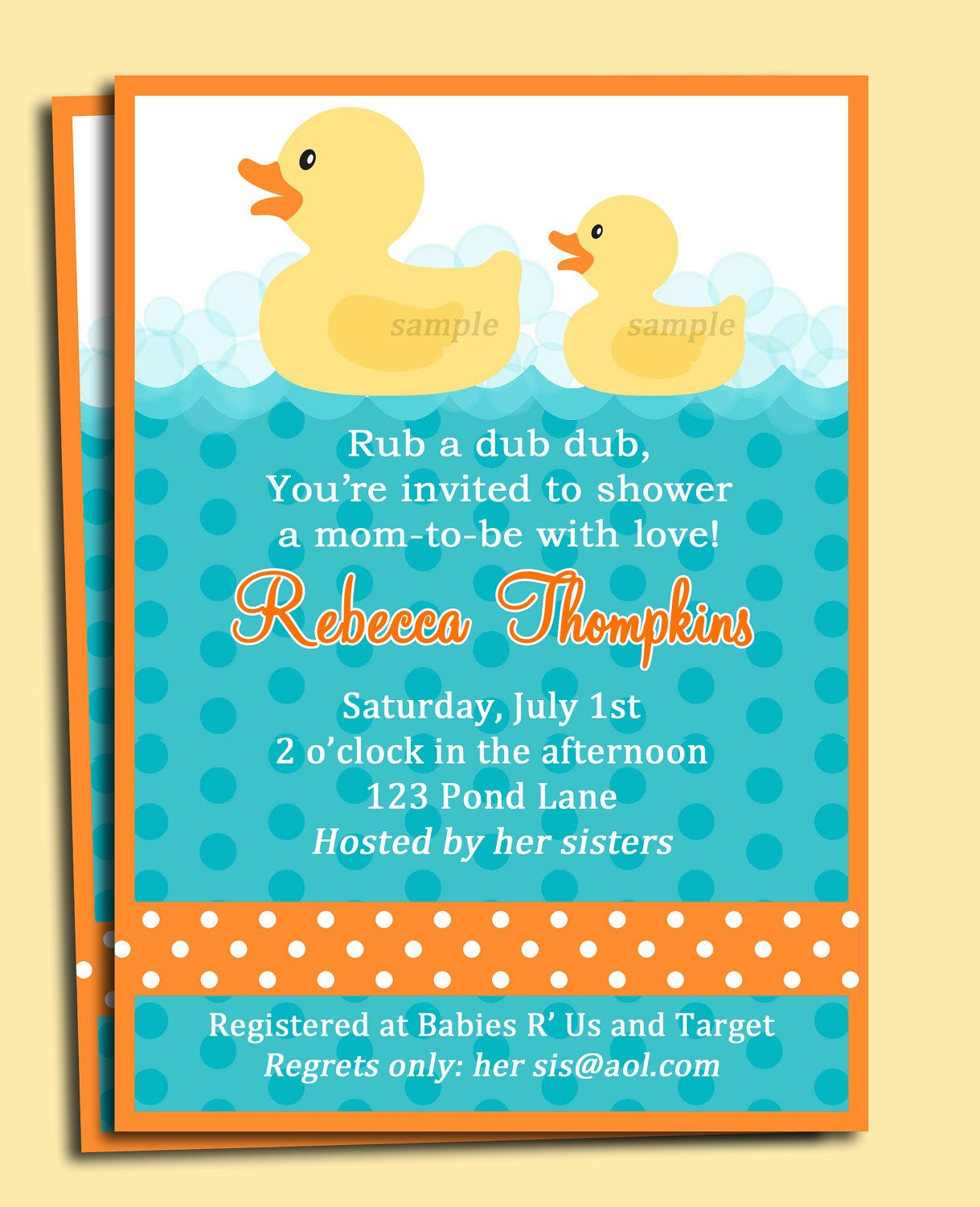Rubber duck baby shower or birthday invitation printable my lil rubber duck baby shower or birthday invitation printable my lil duckie collection 1500 filmwisefo Image collections