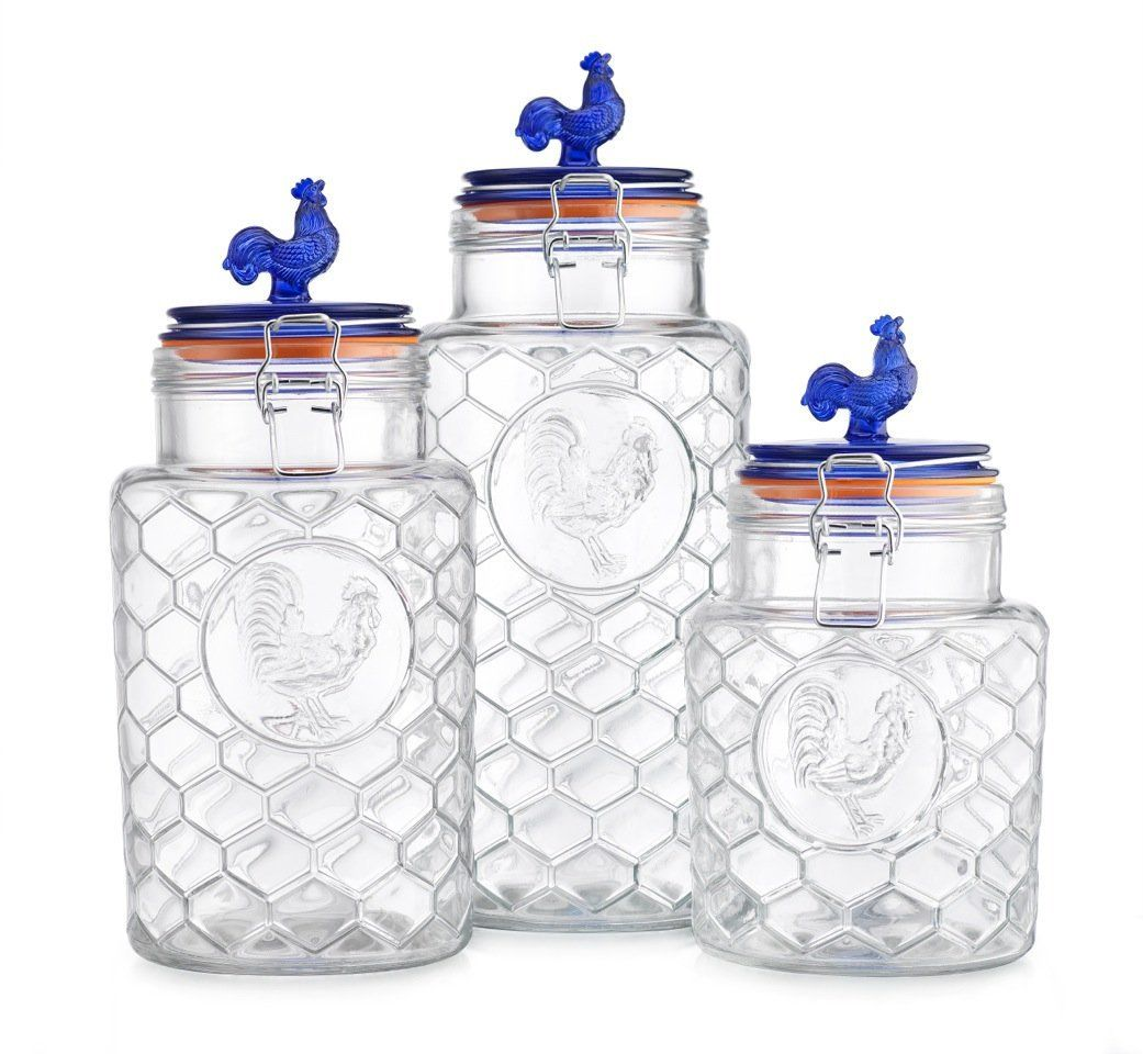 Country Kitchen Rooster Canisters  Country Canister Sets Entrancing Kitchen Jar Set Design Ideas