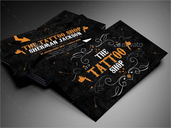 Image Result For Business Tattoo Artist Business Cards