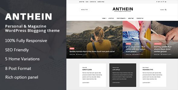 Anthein - WordPress Blog Theme (Personal) - http://wpskull.com/anthein-wordpress-blog-theme-personal/wordpress-offers