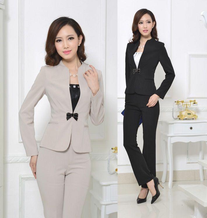 Alta Calidad Elegante Ropa De Trabajo Profesional Trajes Chaqueta Y Pantalones Estilo Uniforme Moda Para Las Damas Oficina
