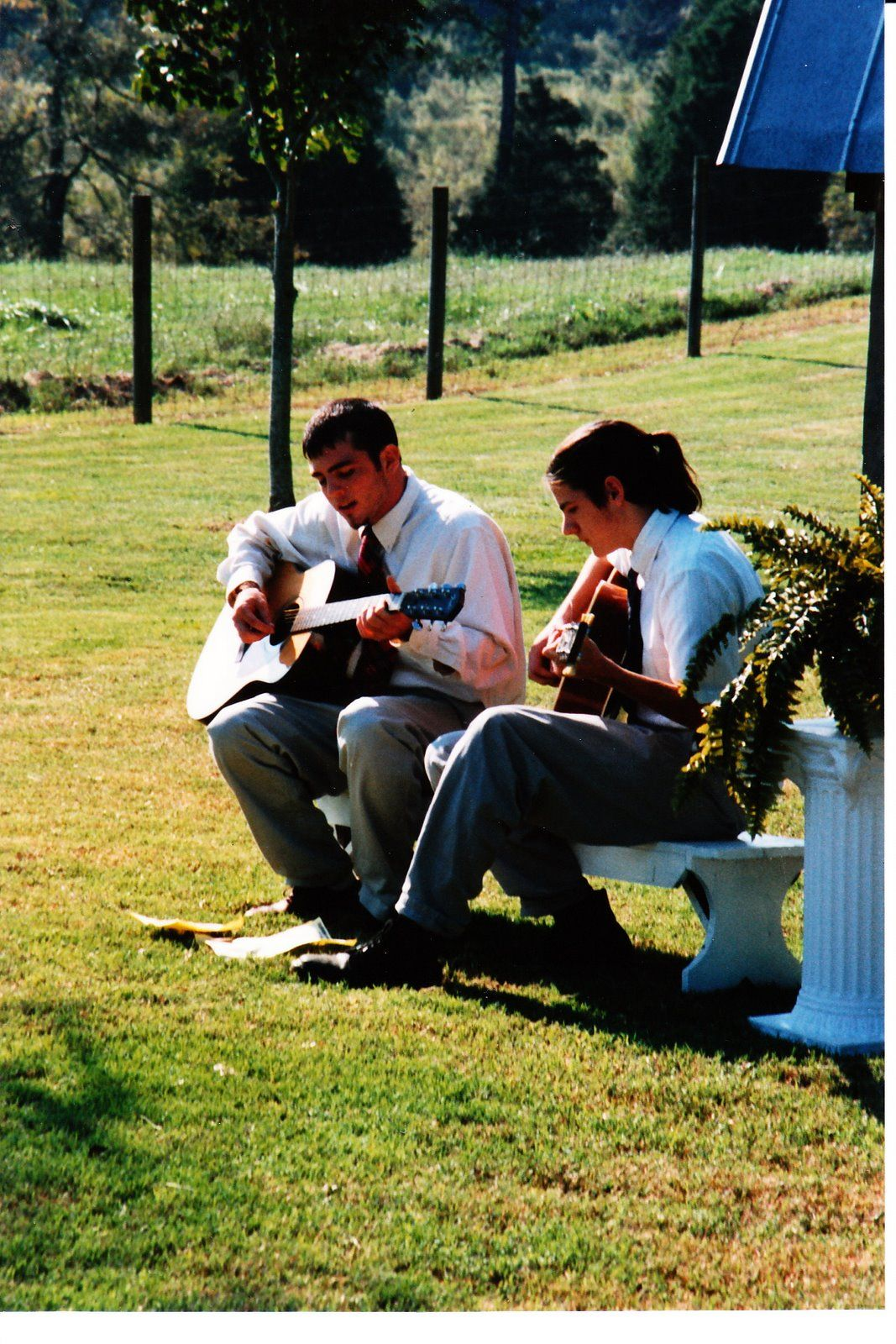 Seth and Scott Avett, ages 15 and 19