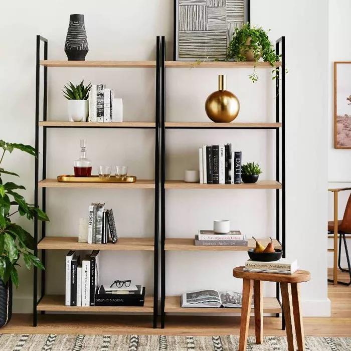72 5 Shelf Loring Ladder Bookshelf Vintage Oak Project 62 Home Decor Home Office Design Home Office Decor