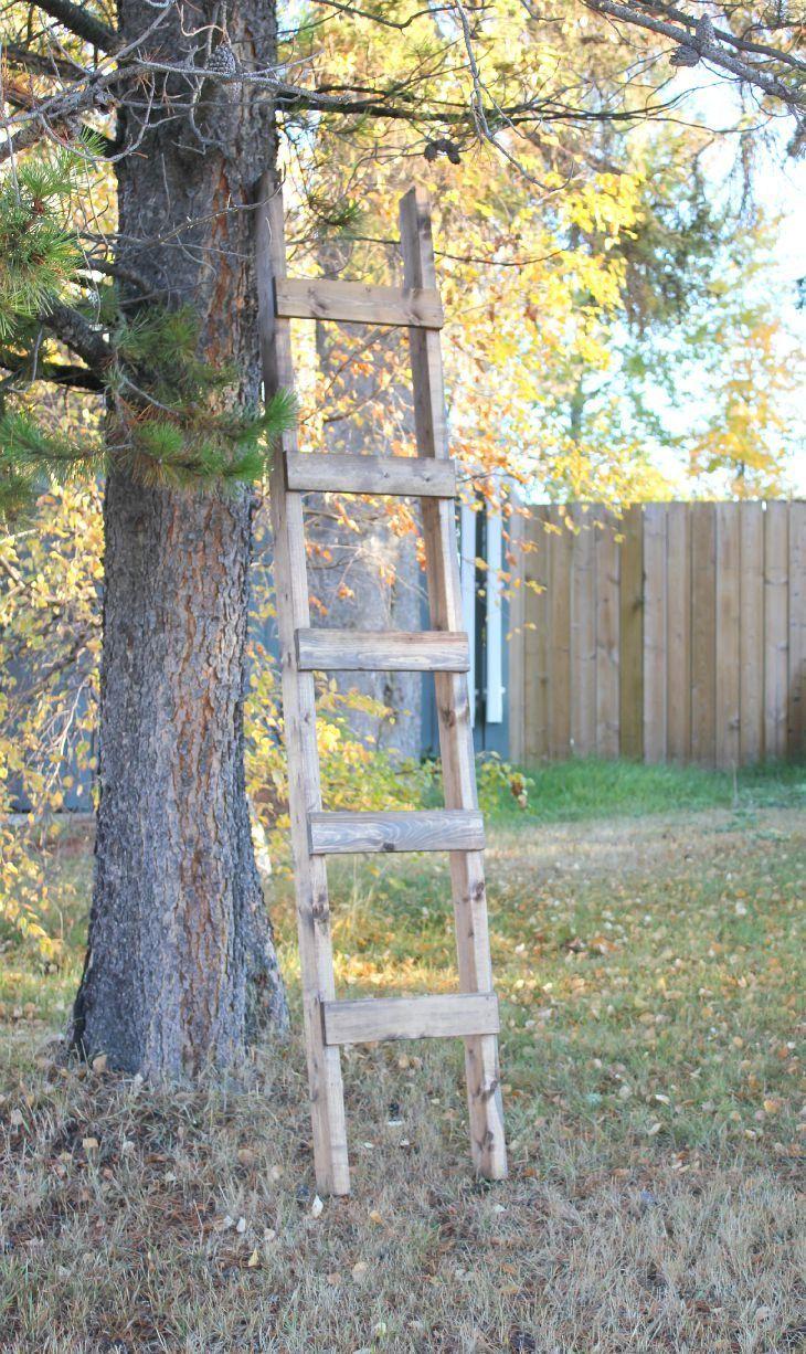 30 minute diy blanket ladder with images diy blanket