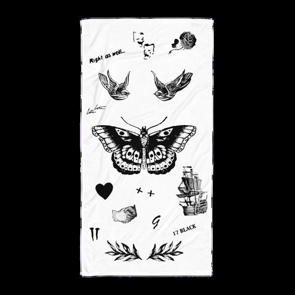 Harry S Tattoos Beach Towel Harry Styles Tattoos Beach Tattoo Harry Tattoos