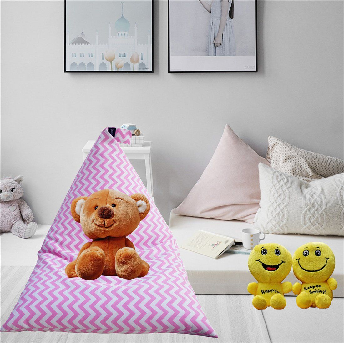 Swell Kids Bean Bag Chair Extralarge Toy Storage Capacity With Inzonedesignstudio Interior Chair Design Inzonedesignstudiocom