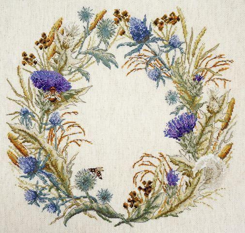 "Cross Stitch Kit MARYA ISKUSNITSA 06.002.60 /""Thistle Wreath/"" MARY WEAVER"