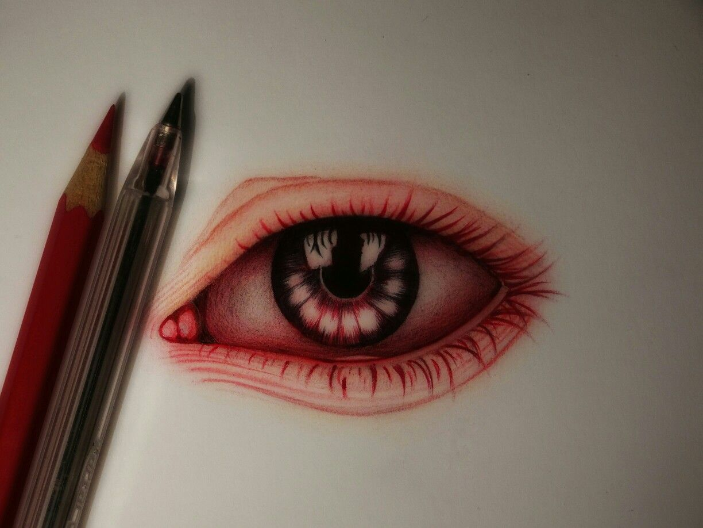 Drawing Drawings Sketch Sketchbook Disegno Pencilart Pencilart Draw Art Eye Red Halloween Face Makeup Drawings Face Makeup