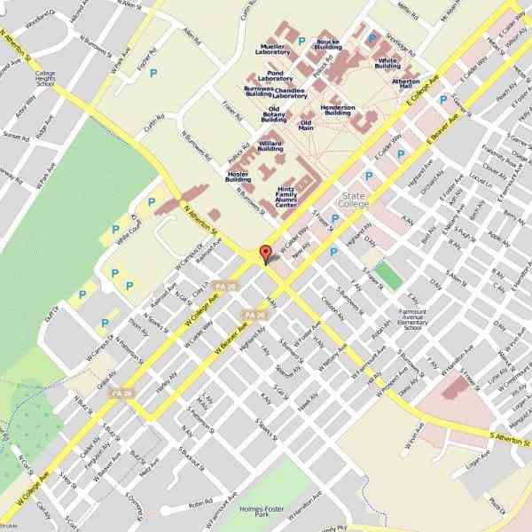 State College Map awesome Map Of State College Pennsylvania   Holidaymapq   State