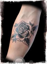 Image result for tattoo rose old school grey