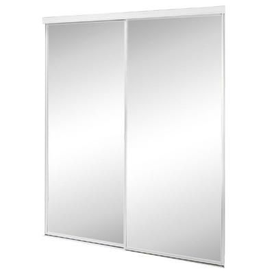 Contractors Wardrobe 47 In X 80 5 In Savoy Mirror White