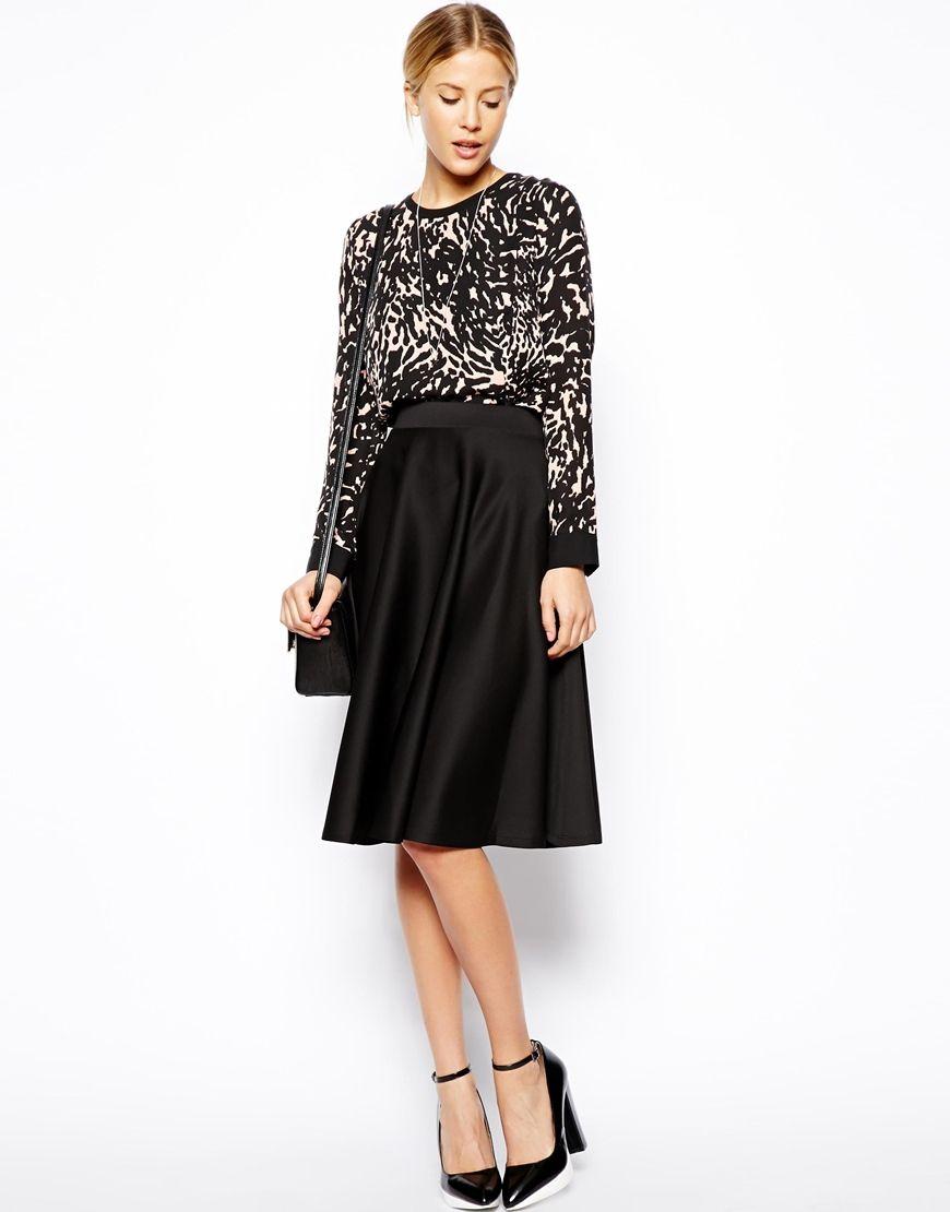 cc408f2e2e ASOS | ASOS Full Midi Skirt In Scuba With Pockets at ASOS | My Style ...