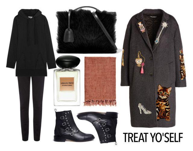 """It's Time to Treat Yo'Self!"" by eva-jez ❤ liked on Polyvore featuring Dolce&Gabbana, Giorgio Armani, Jimmy Choo, Vielma London, Mark Cross, MM6 Maison Margiela and treatyoself"