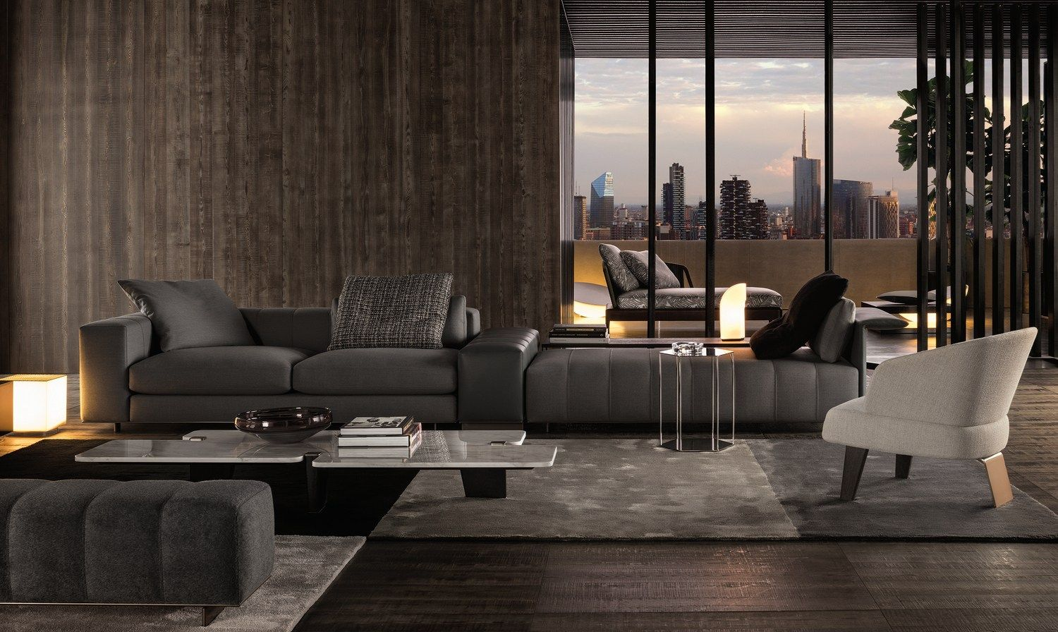 Sofa Freeman Seating System By Minotti Diseno Rodolfo Dordoni