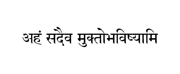 Sanskrit Tattoo Translation–I'll be forever free ...