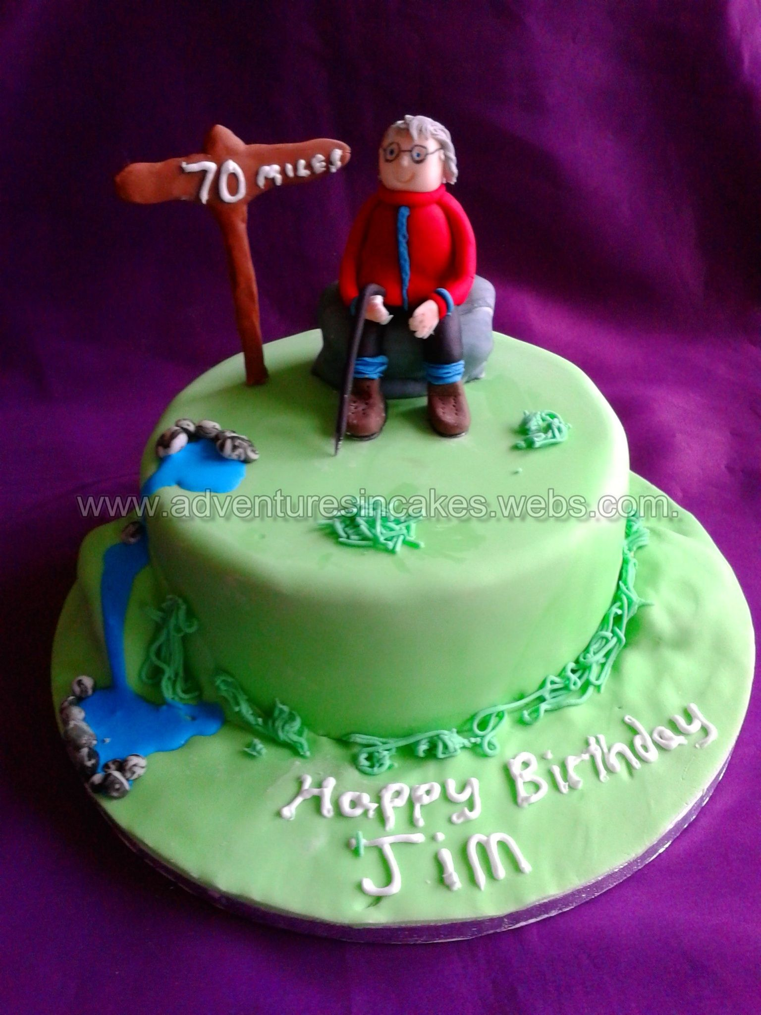 Hill Walking Cake Birthday Cake Cake Retirement Cakes