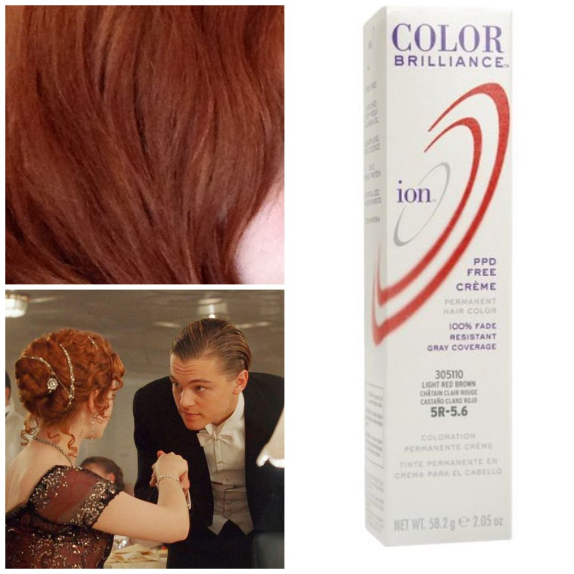 How to get rose   hair color from titanic  started with medium brown all supplies sally beauty supply mix quick white powder bleach also ion brilliance mochas wr gold mahogany rh pinterest