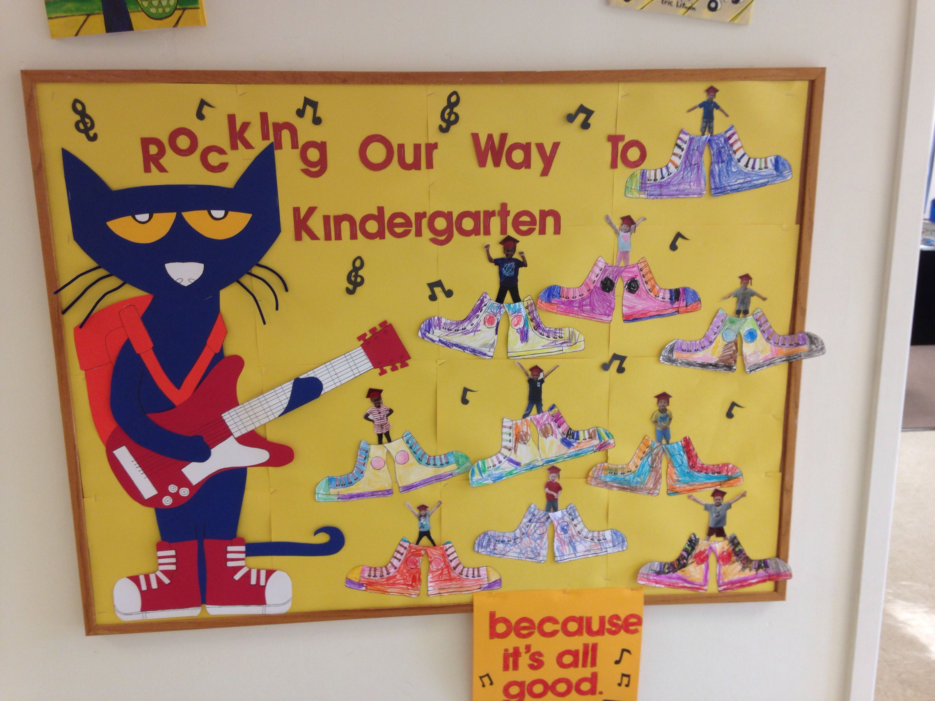 Pete The Cat Prek Graduation Bulletin Board
