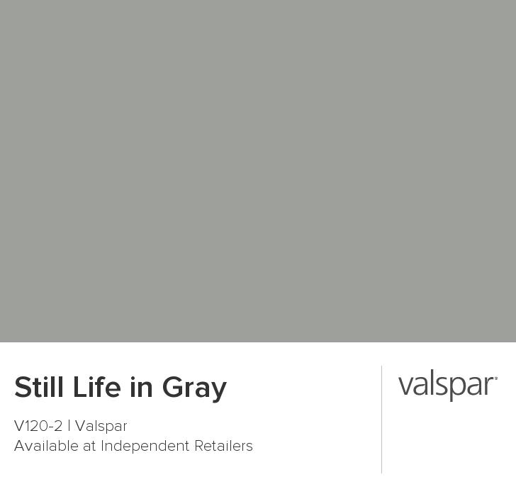 Still Life in Gray from Valspar   living room   Pinterest   Grey ...