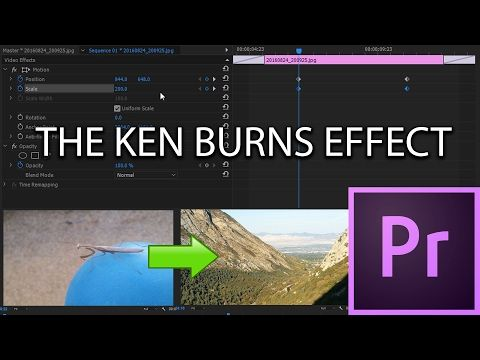 E30 The Ken Burns Effect Adobe Premiere Pro Cc 2017 Youtube