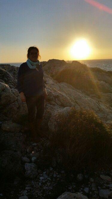 Mi radón la puesta de sol