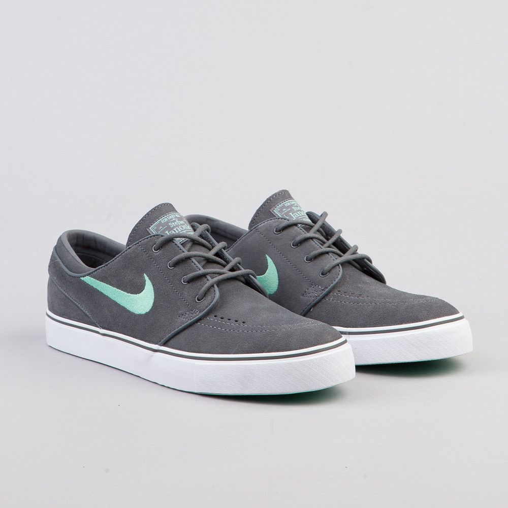 Nike SB Stefan Janoski Dark Grey / Medium Mint | Shoes | Pinterest