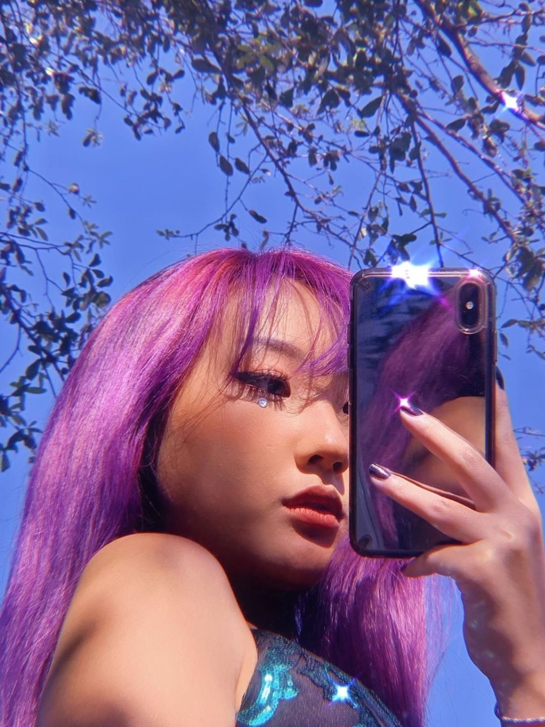 Violet Dream In 2020 Hair Streaks Aesthetic Hair Hair Inspo Color