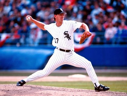 Bobby Thigpen Chicago White Sox Wearing Black Sports Jersey