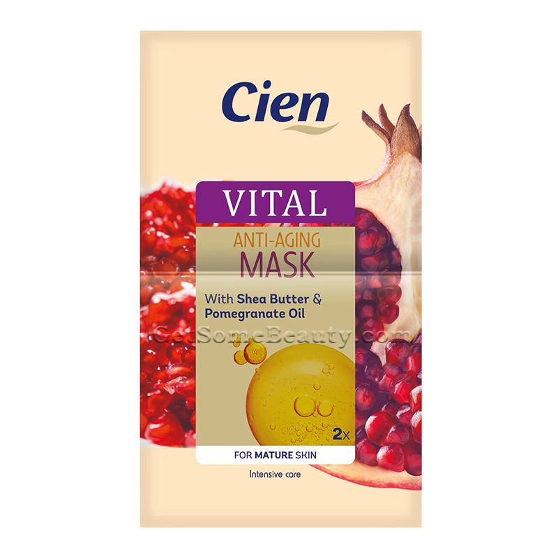 Cien Vital Anti Aging Mask In 2020 Anti Aging Mask Anti Aging Pomegranate Oil