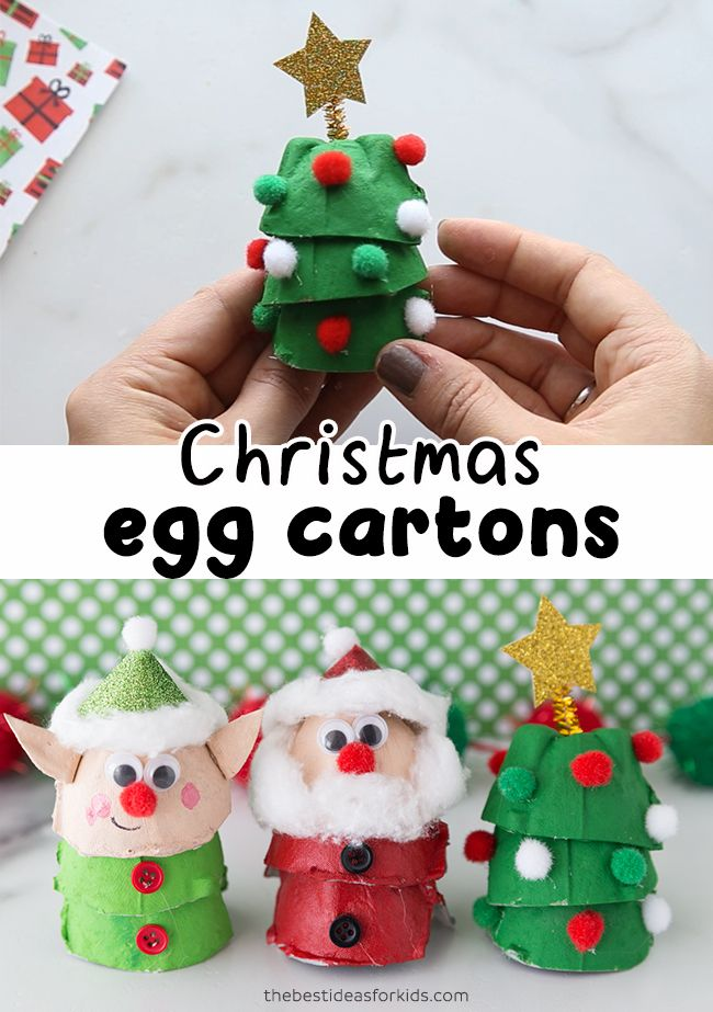 Christmas Egg Carton Crafts #christmascraftsfortoddlers