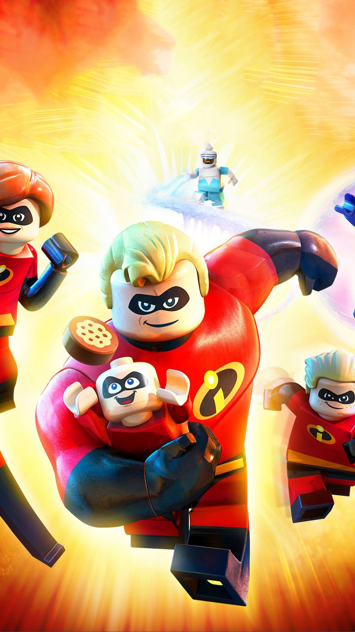 the incredibles 2, animation movie, 2018, lego, figure, 720x1280