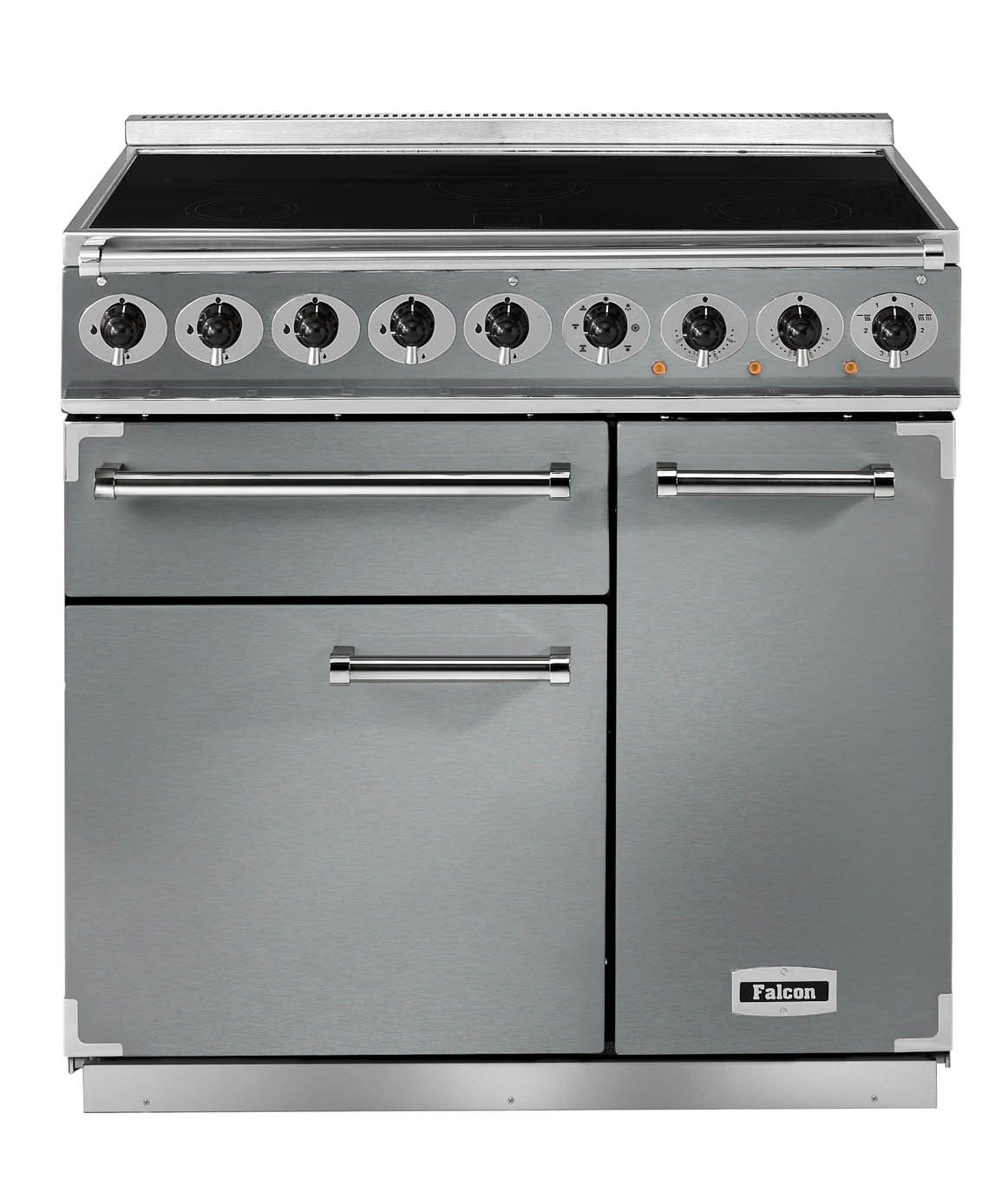 Falcon Deluxe 900 Induction Stainless Steel/Chrome Range Cooker ...