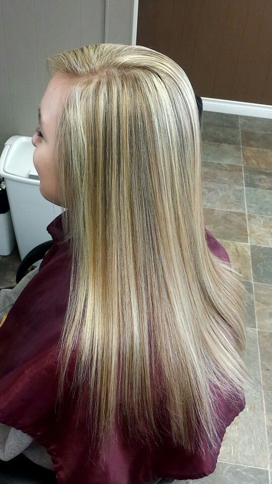 Fine weave highlight on natural level 6 hair color. | LONG ...