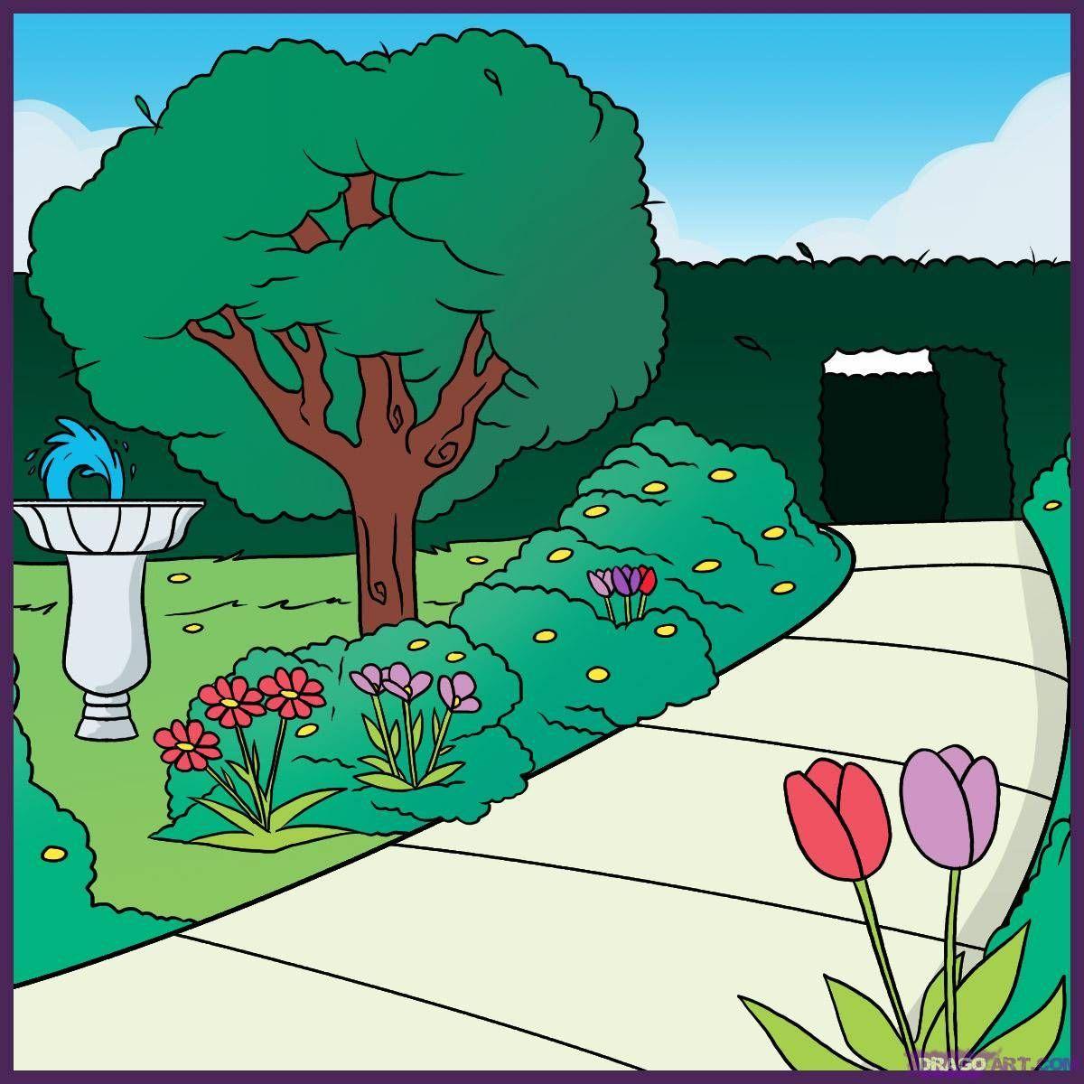 выполнять картинки для рисования в саду карандашом любой другой
