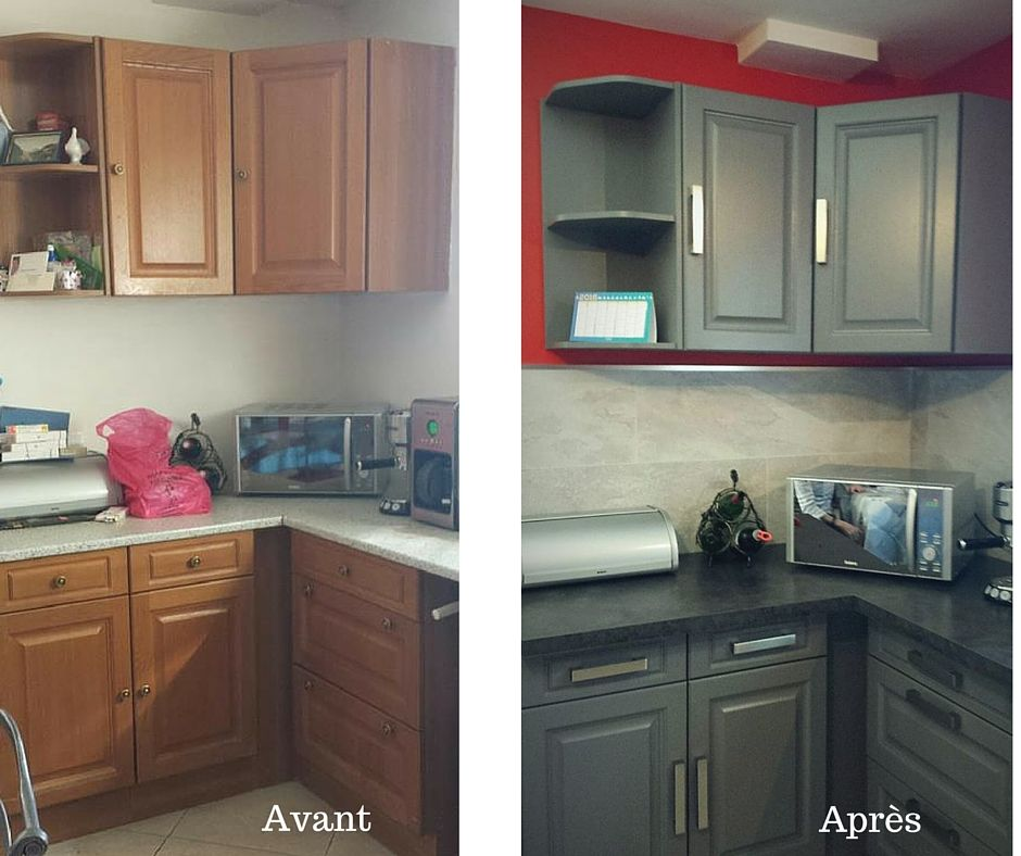 r sultats de recherche d 39 images pour peinture meubles cuisine avant apres cuisine avant. Black Bedroom Furniture Sets. Home Design Ideas