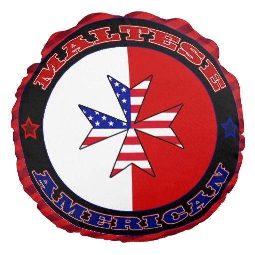 Maltese American Cross Ensign Throw Pillow Round Pillow To See This Design On A Range Of Other Produc Throw Pillows European Ancestry Decorative Throw Pillows