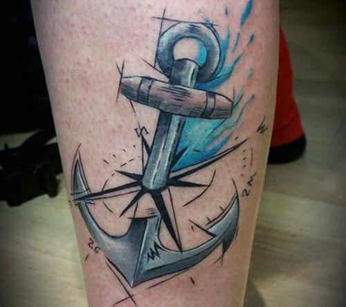 67 Tatuajes De Anclas Y Sus Significados Tatuajes De Anclas Tatuajes Nauticos Y Tatuajes
