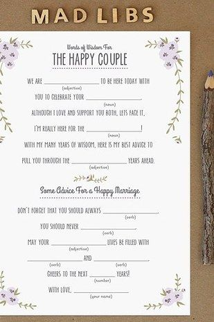 Mad libs wedding 3 pinterest wedding bridal shower and free mad libs 31 free wedding printables every bride to be should know about maxwellsz