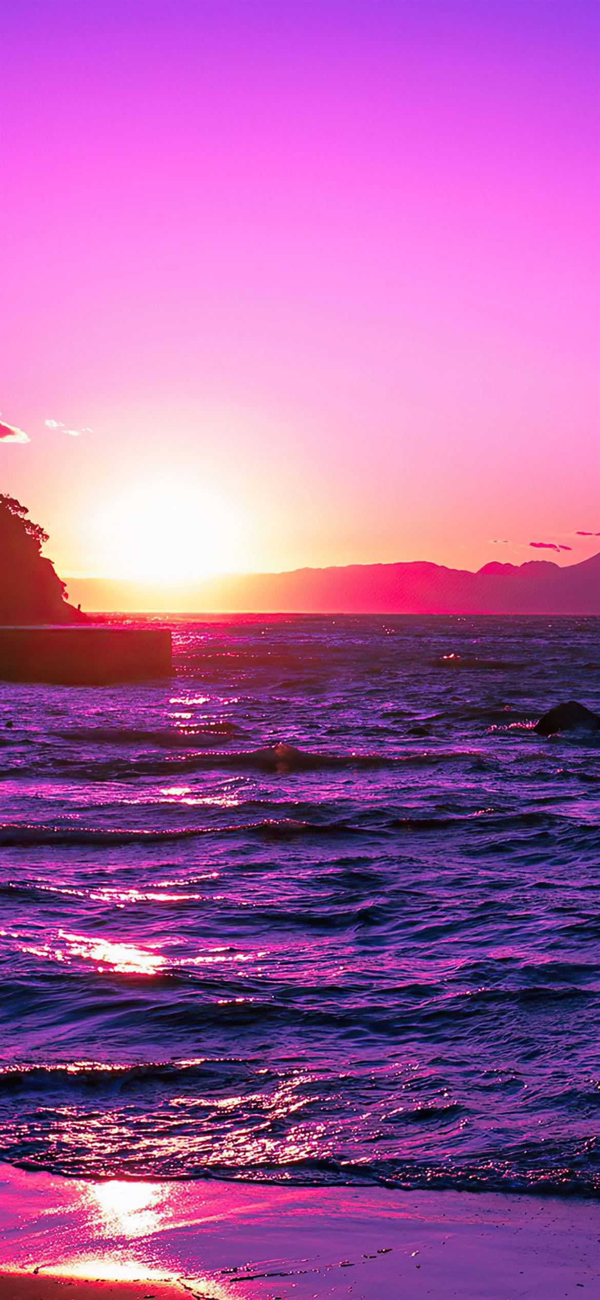 Beautiful Evening Purple Sunset 4k Sunset Evening Nature 4k Purple Sunset Cool Backgrounds Sunset Wallpaper Evening beach scenery wallpaper