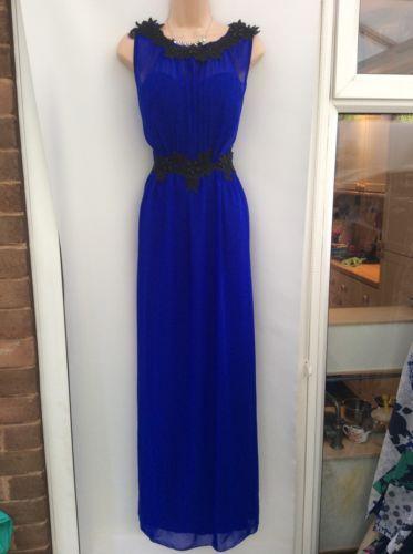 LITTLE MISTRESS cobalt Blue Black Floaty Maxi Dress Party Wedding Size 14 https://t.co/GO1fI3jzUM https://t.co/2DIRBpPGkW