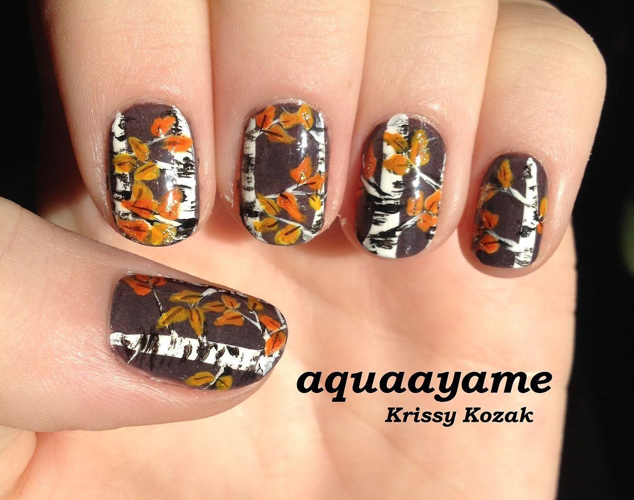 aquaayame #nail #nails #nailart Love these Birch Tree Nails ...