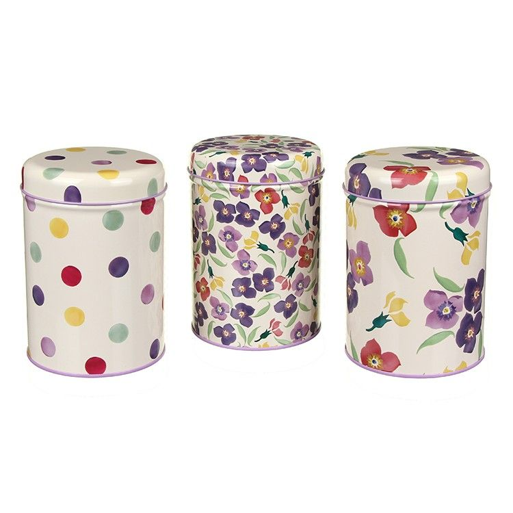 Emma Bridgewater Three Wallflower Storage Caddies | Temptation Gifts ...