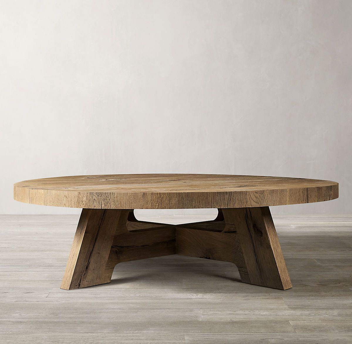 Https Media Restorationhardware Com Is Image Rhis Prod19220137 E13790172 Tq Rs Np Fullwi In 2021 Round Coffee Table Round Coffee Table Diy Round Wooden Coffee Table [ 1170 x 1200 Pixel ]