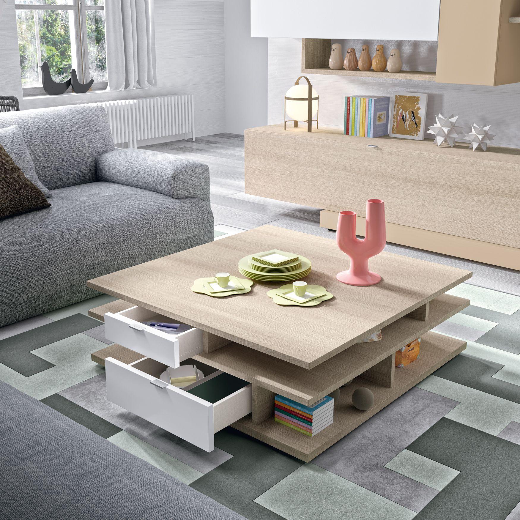 Auxiliares Con Muchas Utilidades Mesa De Centro Con Distribuci N  # Muebles Todo En Uno