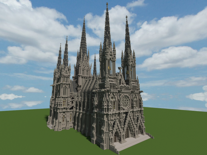Ideal Cathedral 1 1 Scale Minecraft Project Minecraft Projects Minecraft Construction Minecraft Castle