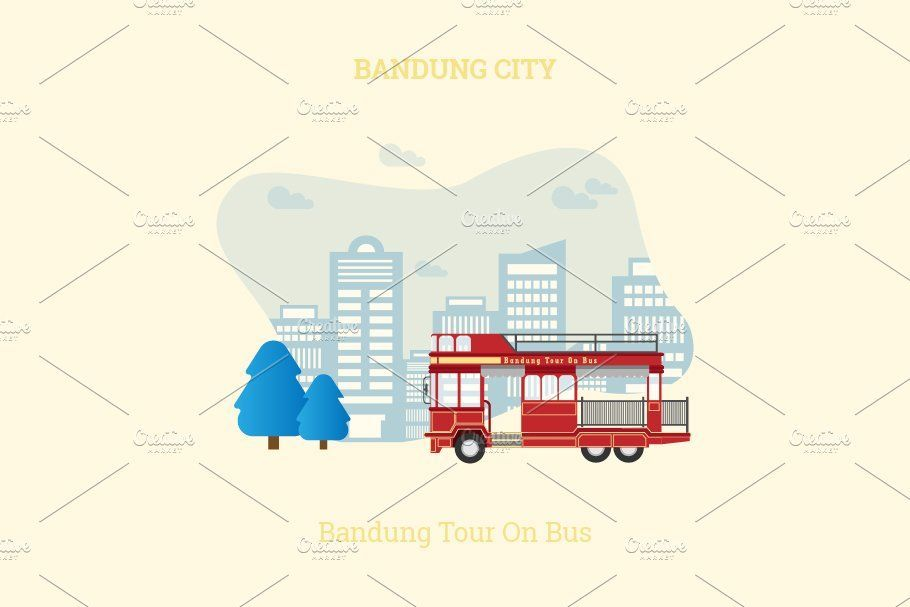 Bandung City of Indonesia Vector , #Sponsored, #Vector#Design#Composed#City #affiliate
